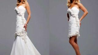 Такие варианты платьев трансформеров подойдут, однозначно, любой невесте.