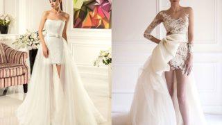 Особенно модно свадебное платье трансформер с отстегивающейся юбкой