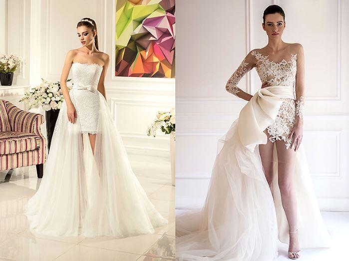 4b5b112a454 Вечернее платье трансформер с отстегивающейся юбкой — свадебный вариант