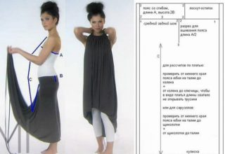 Выкройка платья трансформер своими руками с завязками за шеей