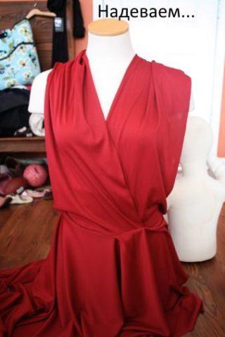 Правильно примеряем и одеваем платье трансформер