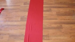 Режем ткань для шлеей платья трасформер